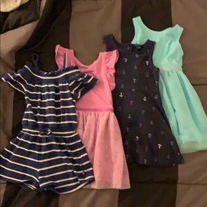 3 Dresses and 1 Romper all Size 2T